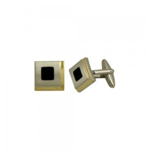 cl27-776-style-two-tone-gold-and-black-enamel-square-cufflinks
