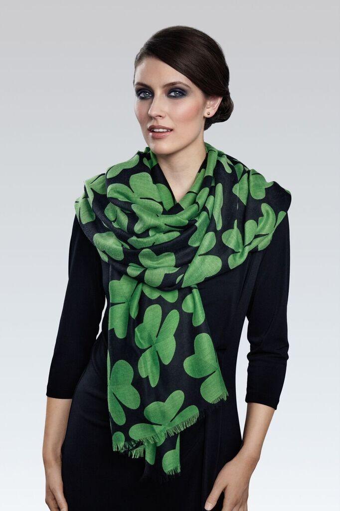 shamrock silk scarf