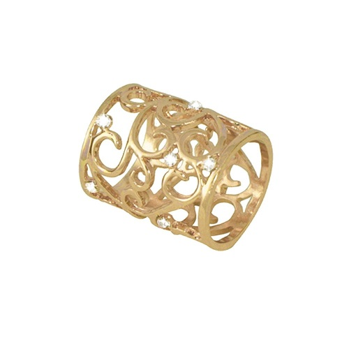 Artiste Clear Crystal Gold Tone Scarf Ring £18