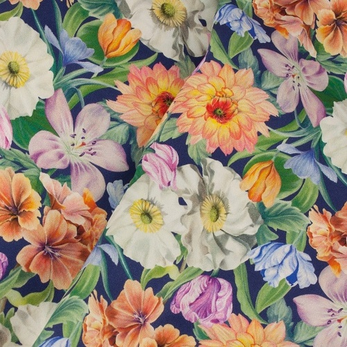 Summer Bouquet Liberty Print Pure Satin Silk Infinity Scarf with Magnetic Closure £58