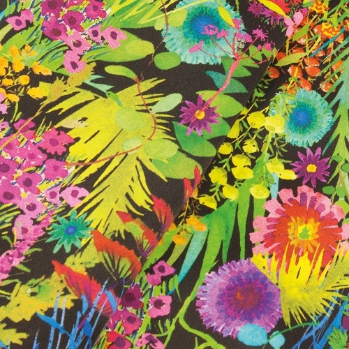 Tropical Sunset Liberty Print Pure Satin Silk Infinity Scarf with Magnetic Closure £58