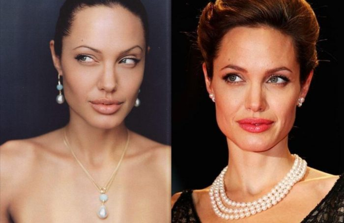 angelina jolie pearl necklaces