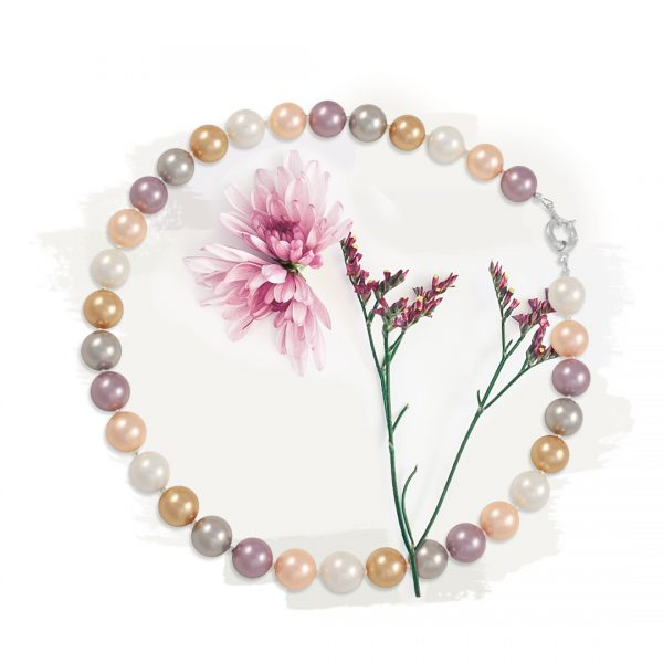 South Sea Pastels Shell Pearl Necklace