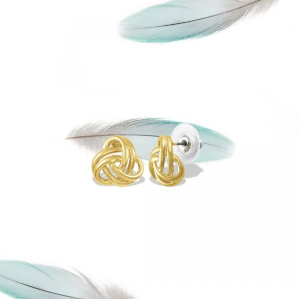 Entwined Gold Tone Classic Pierced Earrings