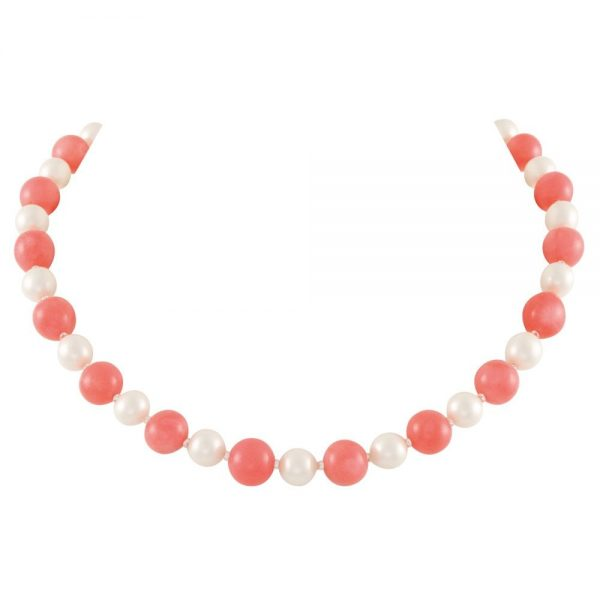 Duet Coral and Shell Pearl Necklace