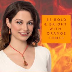 Orange jewellery