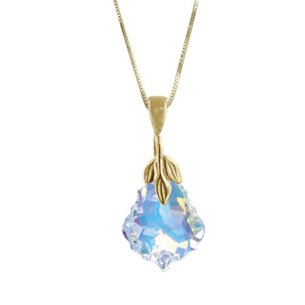 5a6edf901e26 Baroque Aurora Borealis Swarovski Crystal 14ct Gold Vermeil Pendant ...