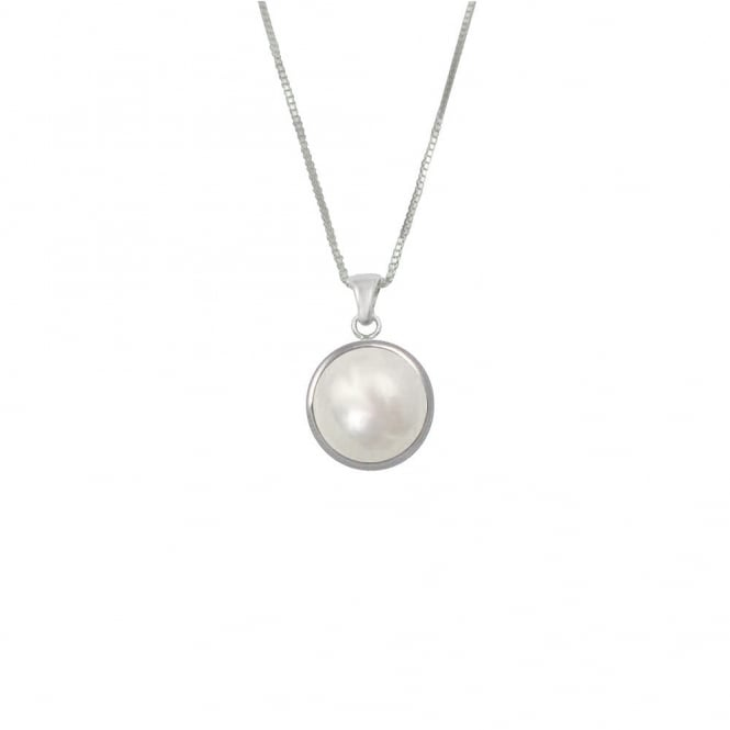 Bella Perlina AAA Freshwater Pearl Sterling Silver Pendant Necklace