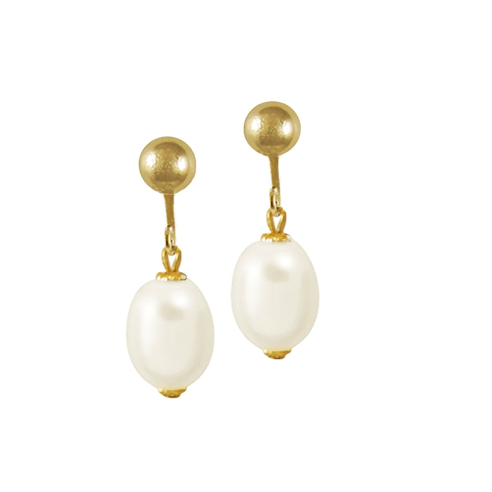 Doyenne AAA White Freshwater Pearl Gold Filled Drop Pierced Earrings With Gift Box YeF5WDaF