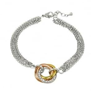 016fcbbd38dec5 Alexa Three Tone Gold Russian Style Pendant Necklace