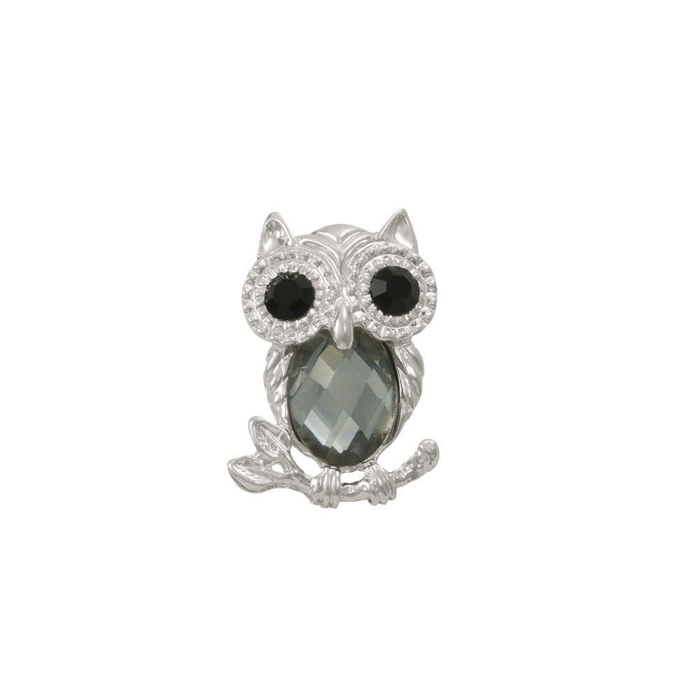 """Silver Tone White Crystal Frog with Green Crystal Eyes Pin Brooch 1.8/"""" Long"""