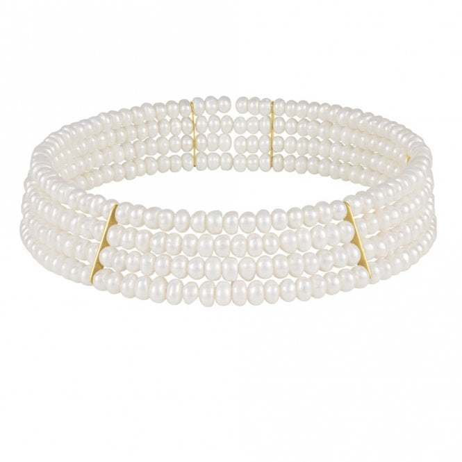 1a180392f2006 Princess Freshwater Pearl Choker Necklace (Gold)