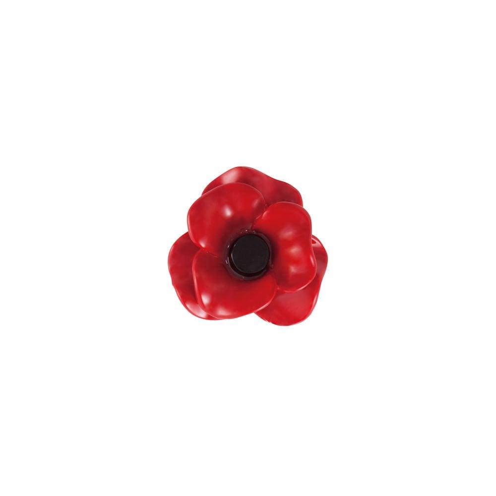Red Enamel Poppy Lapel Pin