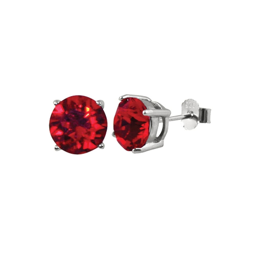 d9997e1b3 Starlet Sterling Silver Lt Siam Red Austrian Crystal Solitaire Stud Earrings