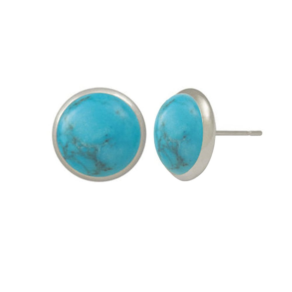 2e2b77650 Symphony Natural Turquoise Silver Pierced Stud Earrings