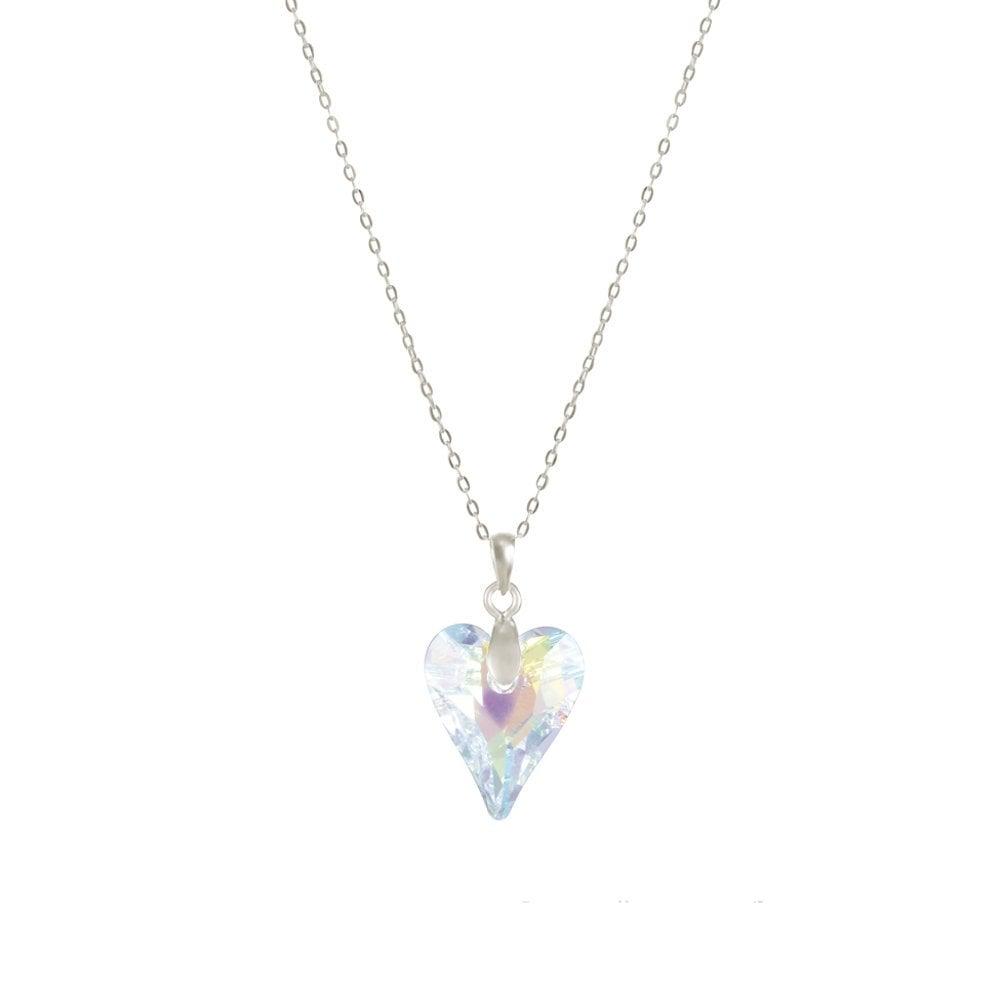 4176ffd5a Wild at Heart Aurora Borealis Swarovski Crystal Sterling Silver Pendant