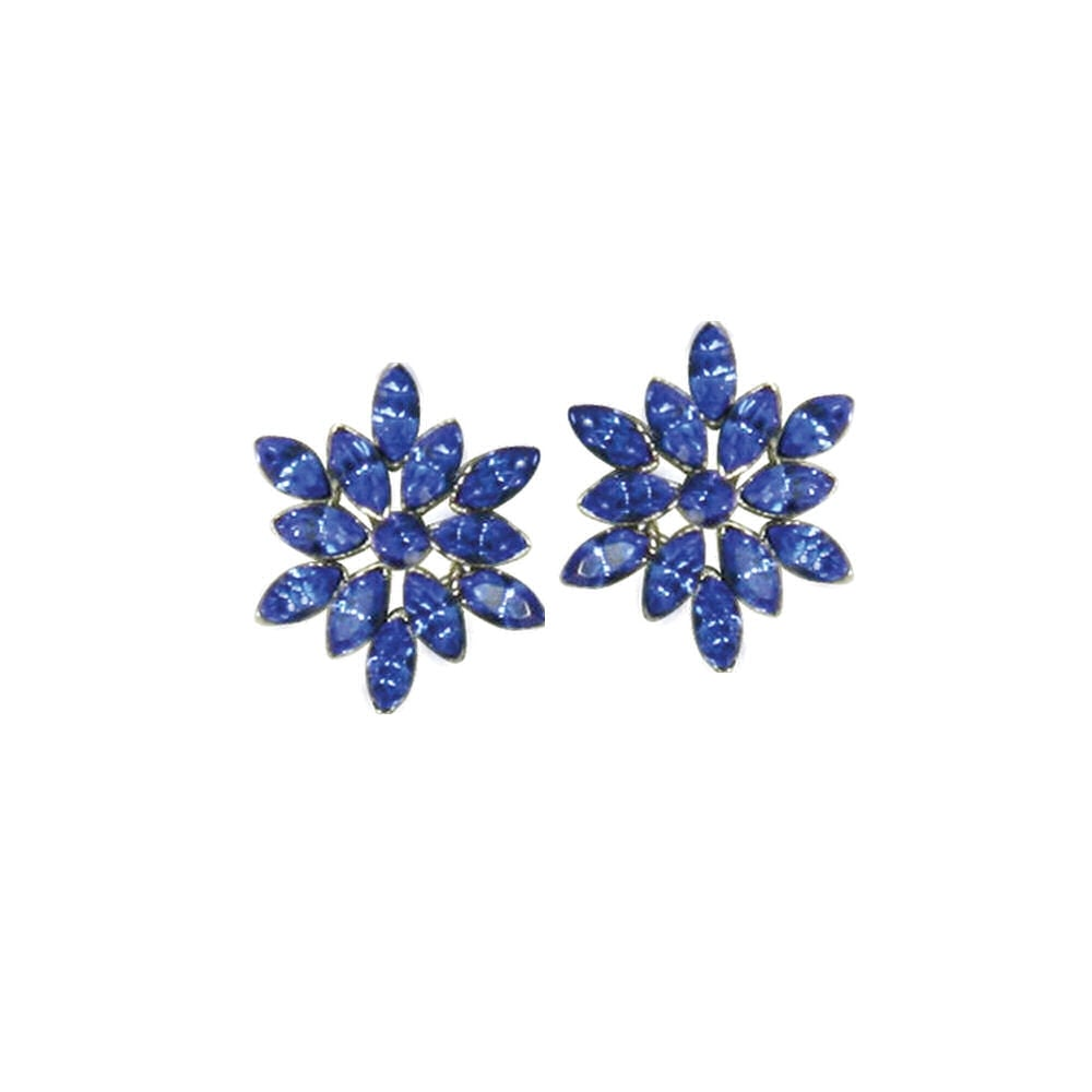 Everlasting vintage style floral sapphire blue crystal silver tone everlasting vintage style floral sapphire blue crystal silver tone pierced earrings izmirmasajfo