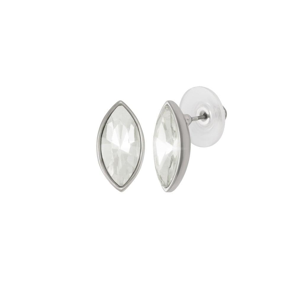 d66804c4a Evoke Clear Crystal Silver Tone Stud Pierced Earrings
