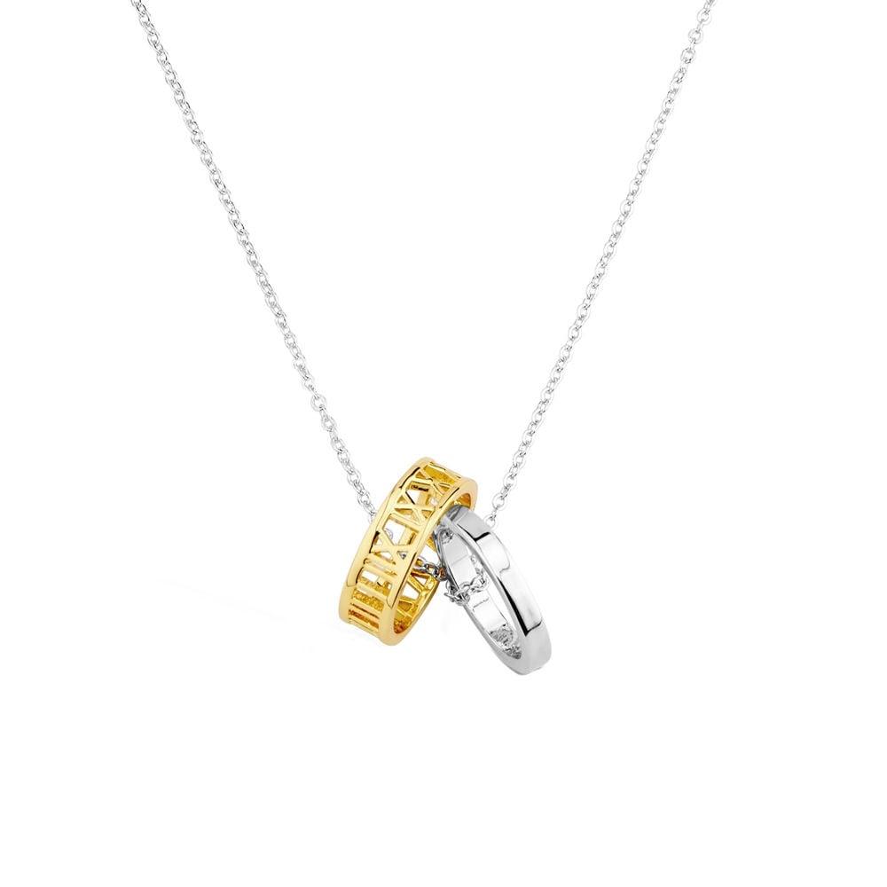 Promise two tone ring pendant necklace aloadofball Choice Image