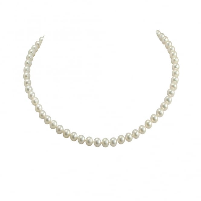 Pure Pearls 20 Inch 6 7mm Aaa White Freshwater Pearl Necklace